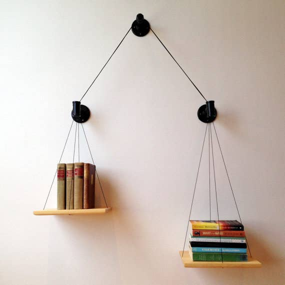 Weigh Your Reading Options With A Scale Shelf