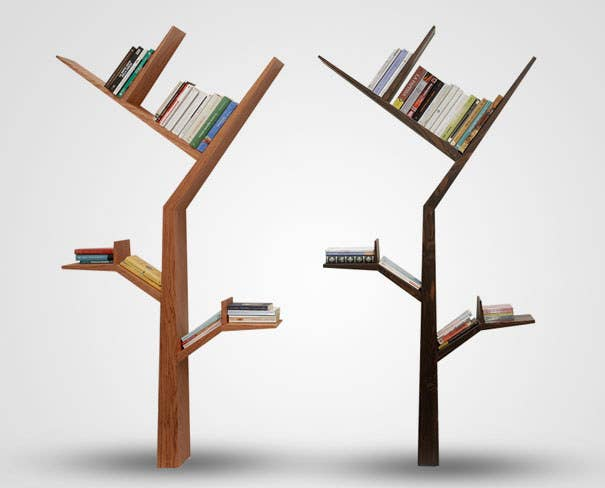 Insanely Clever Ways To Display Your Books - Corner tree bookshelf
