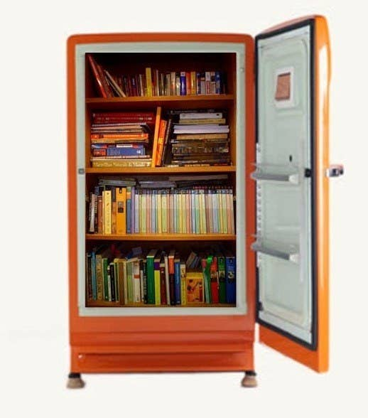 Convert An Old Refrigerator Into A Book Safe