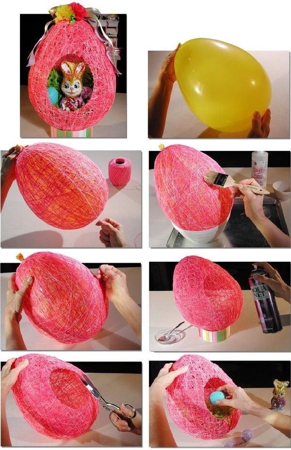 Как из ниток сделать яйцо