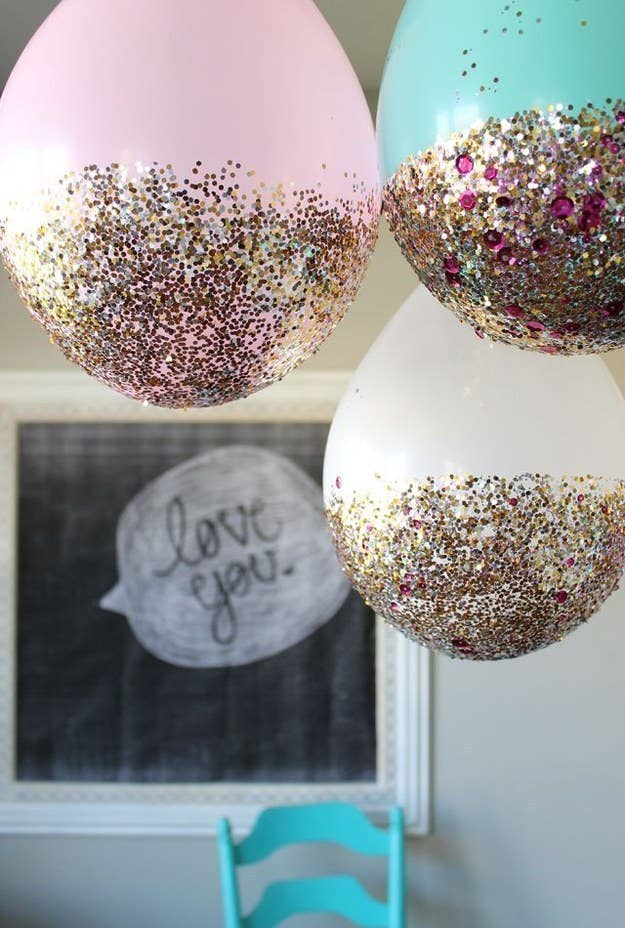 3 And Scatter Glitter Balloons All Over The Dang Place
