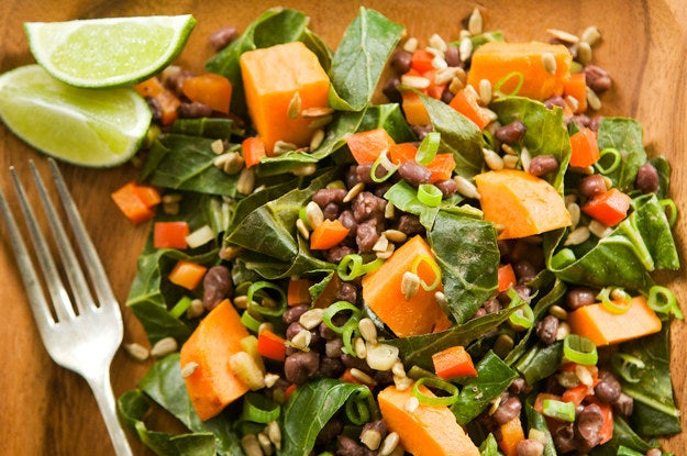 This salad is packed with protein and flavor — and collard greens are totally the unsung hero of the superfoods. Get the recipe.