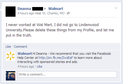 This Person Who Most Definitely Did Not Work At Walmart Share On Facebook Share