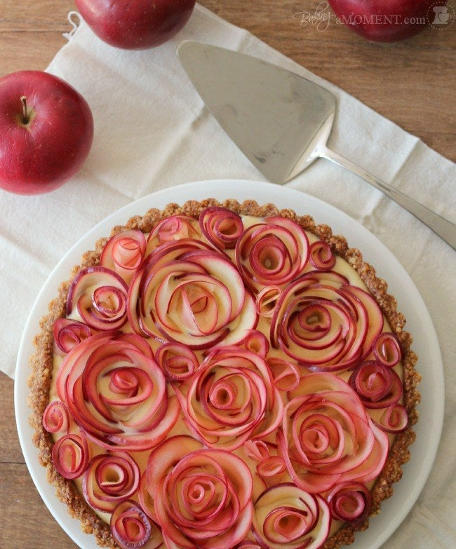 Better get your apple-arranging hand warmed up. Get the recipe.