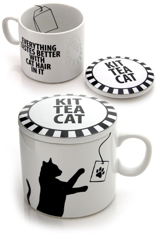 Kit Tea Cat Cup with Lid, $13.95