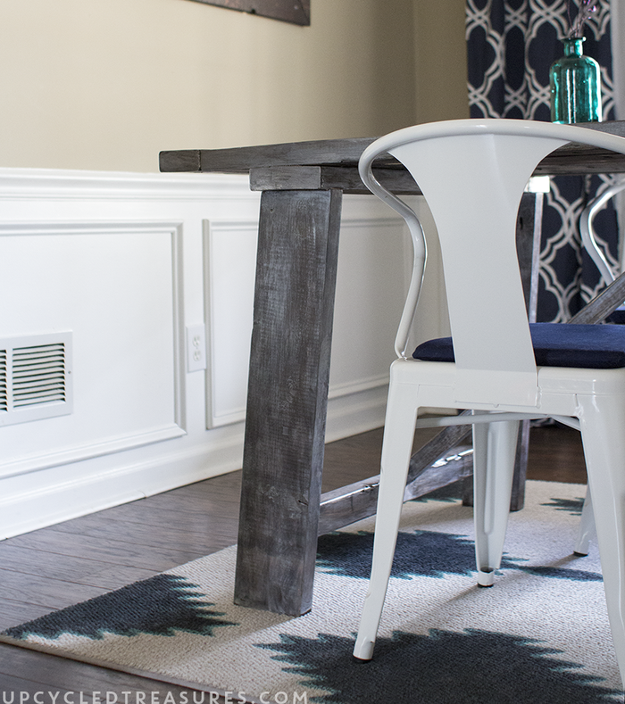 You can usually find remnant rugs at Home Depot or Lowe's, just ask for what they might have in stock. Learn how to paint the remnant here.