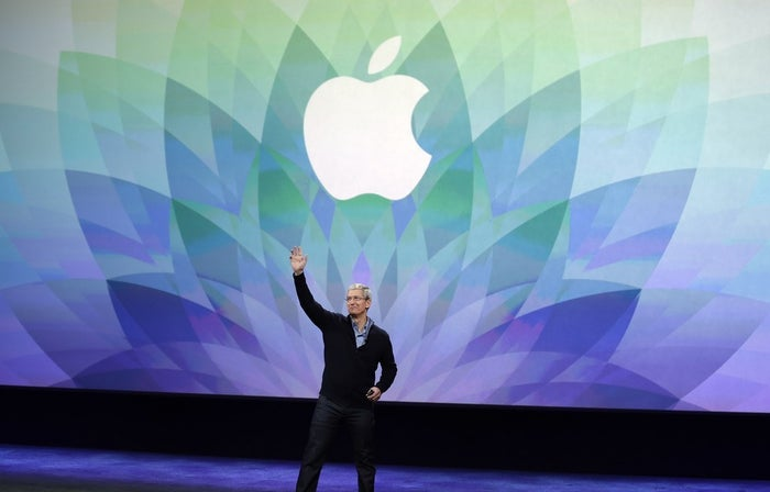 Apple CEO Tim Cook kicks off an Apple event on Monday, March 9 in San Francisco. (AP Photo/Eric Risberg)