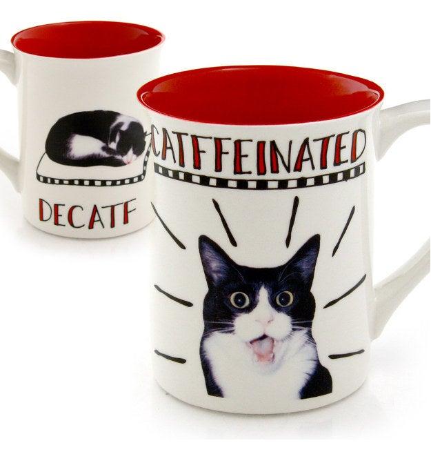 Catffeinated/Decatf Mug, $10.50