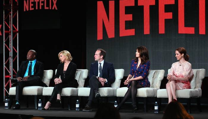 Titus Burgess, Jane Krakowski, Robert Carlock, Tina Fey, and Ellie Kemper talk Unbreakable Kimmy Schmidt at the Television Critics Association winter press tour on Jan. 7.