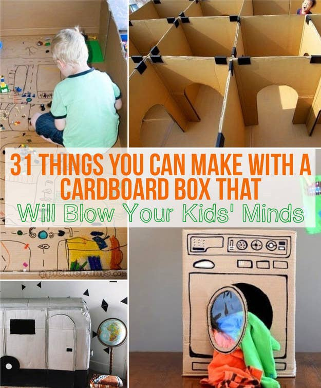Entertain your kids with nothing more than a cardboard box. 29 Boredom Busters Your Kids Will Actually Love