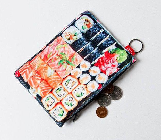 Sushi Tray Coin Purse, $6.00