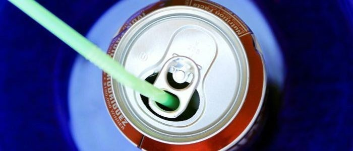 """All the canned soft drinks have a staw-holder! This way, you can put an end in the moving """"wildly"""" staw because of the carbonate!"""