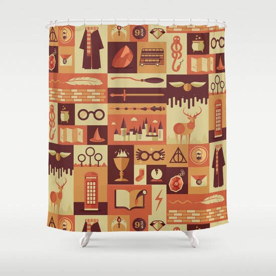 19 things you need for your harry potter themed bathroom harry potter themed shower curtain gumiabroncs Choice Image