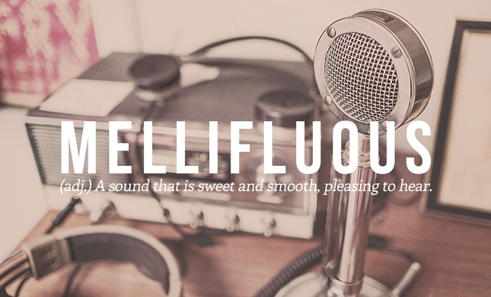Mellifluous: A sound that is sweet and smooth, pleasing to hear.Suggested by @gaminette, @ImolaUnger.