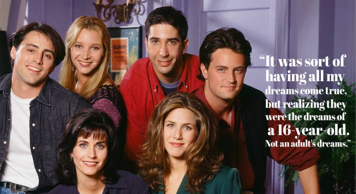 The way they were: the cast of Friends.
