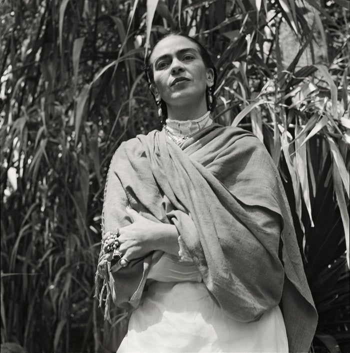 Freund ended up taking intimate pictures of the prominent painter over the next couple of years. Here is Frida's 1951 photograph which was shot in her garden in her home in Coyoacán, Mexico City.