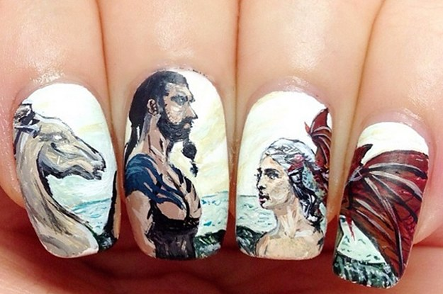 22 gorgeous nail art designs inspired by game of thrones prinsesfo Image collections