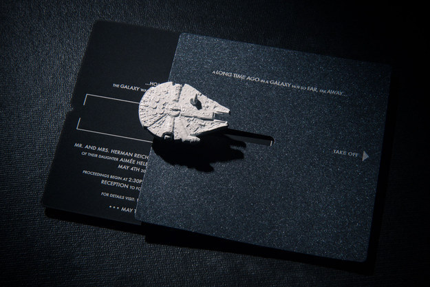 This Beautiful Star Wars Invitation With An Interactive Envelope: