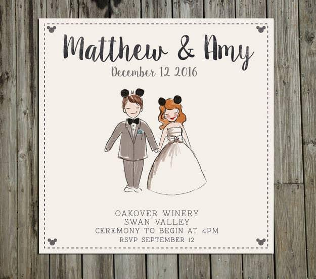 18 Wedding Invitations That Will Make Your Inner Nerd Insanely Happy – Disney Fairytale Wedding Invitations