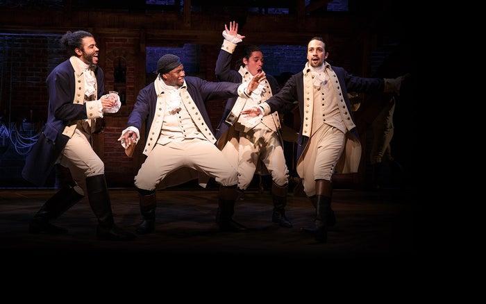 The cast of Hamilton.