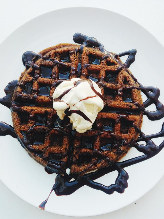 It is — as the name would suggest — part cookie, part waffle. For all of those (frequent) times when you can't decide between the two.