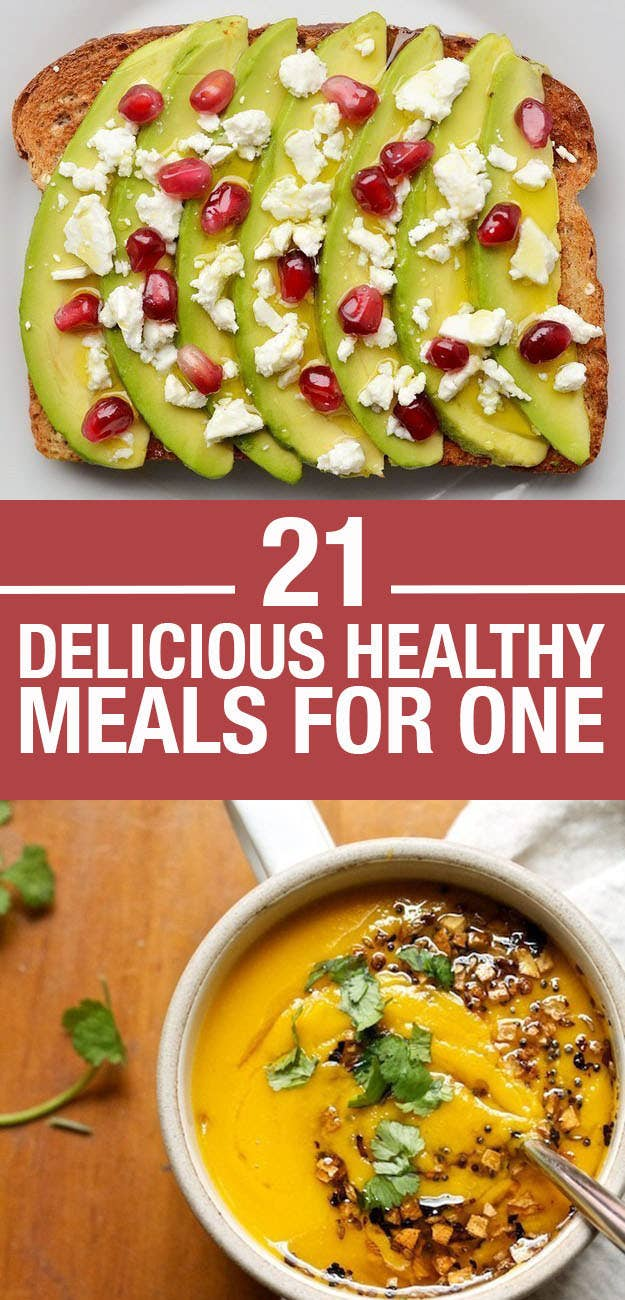 21 Easy And Healthy Meals For One