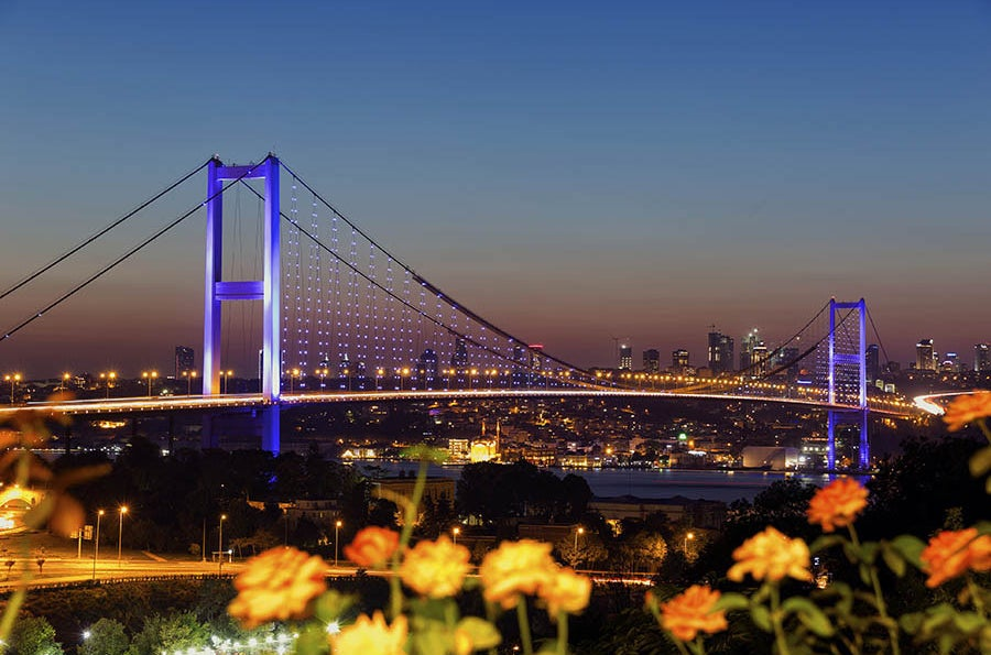 View of the Bosphorus Bridge, Istanbul
