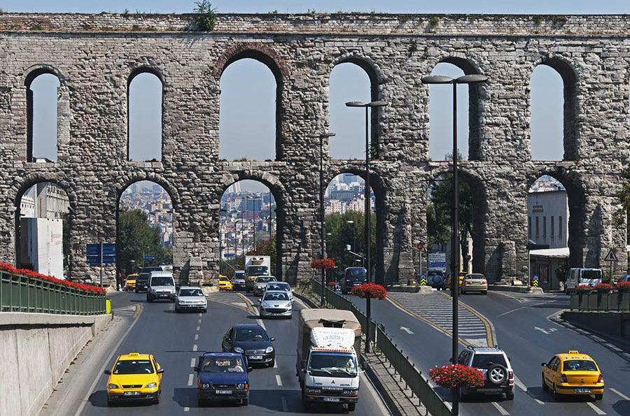 Valens Aqueducts in Istanbul.