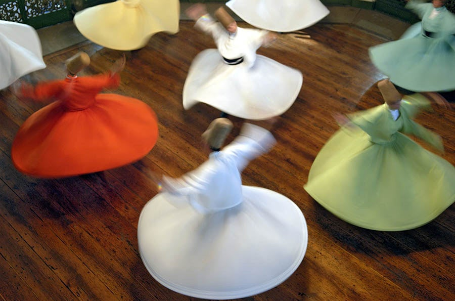 Whirling Dervishes in Istanbul.