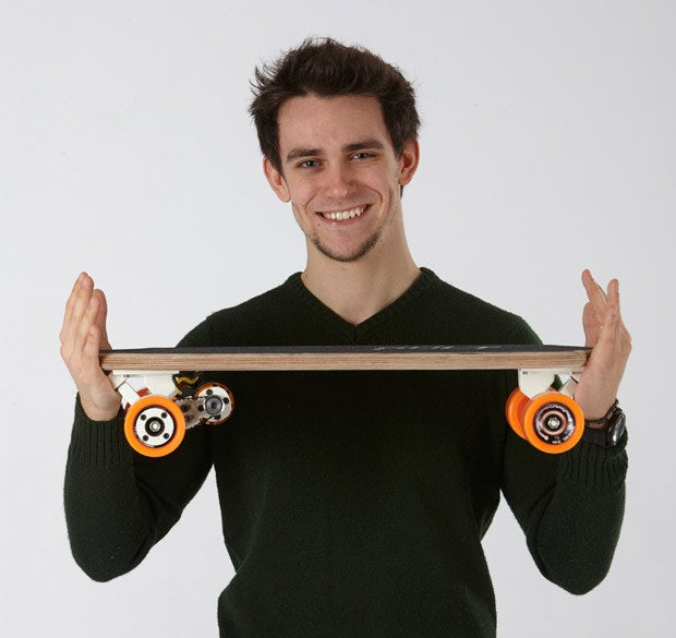 Electric skateboards. This seems one step removed from Back to the Future