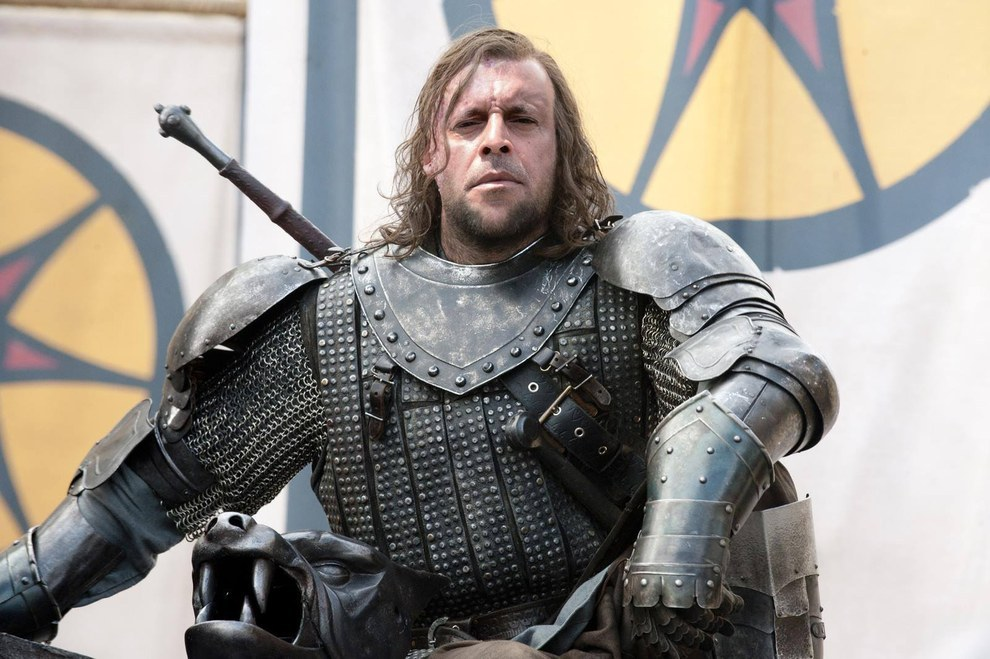 Alexandre Frota é Sandor Clegane.
