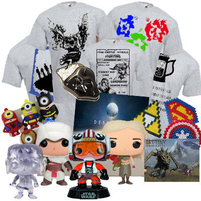 Themed items are sent based on your preference, and every box includes a T-shirt and Pop Vinyl figure.
