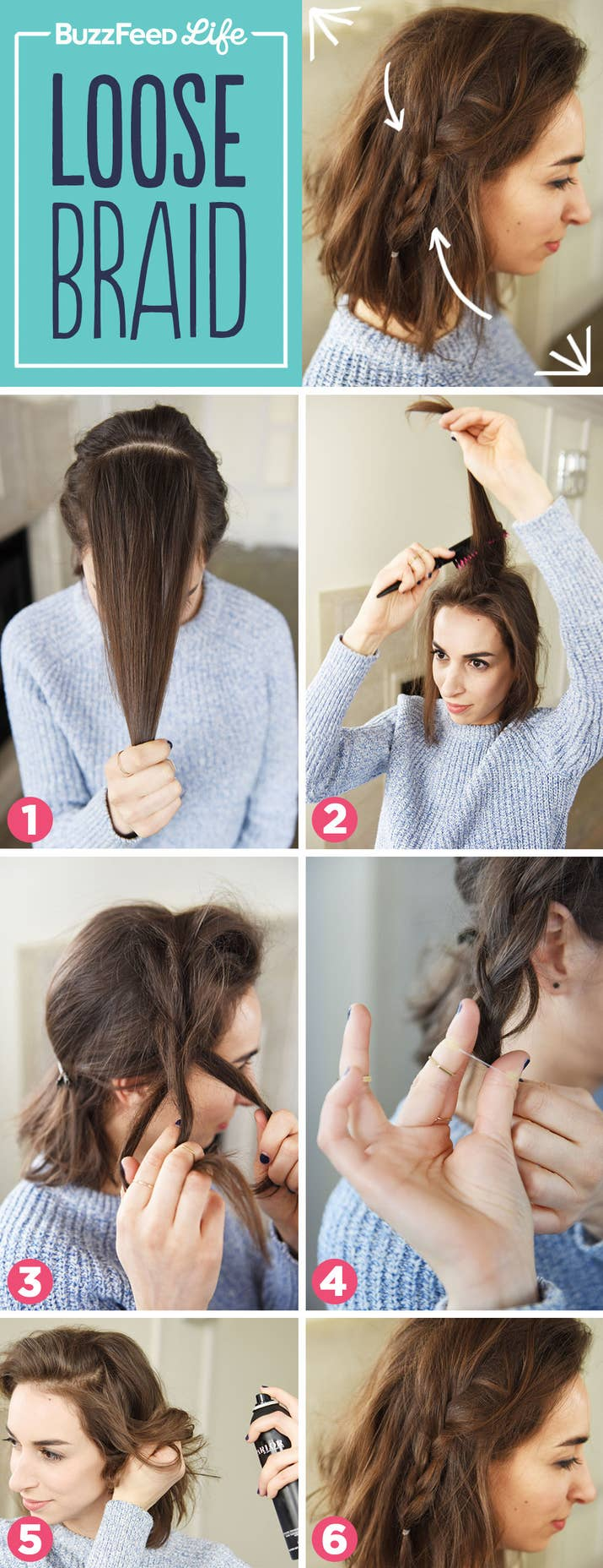 Incredible Hairstyles You Can Learn In Steps Or Less - Braided hairstyles for short hair step by step