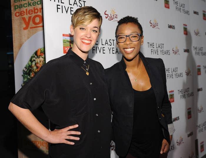 Lauren Morelli (L) with partner Samira Wiley.