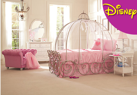 1  Give your kid sweet dreams with this Cinderella carriage bed. 26 Ideas For The Ultimate Disney Princess Bedroom