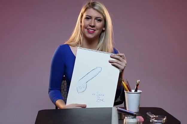 Frauen Zeichnen Ihren Perfekten Penis