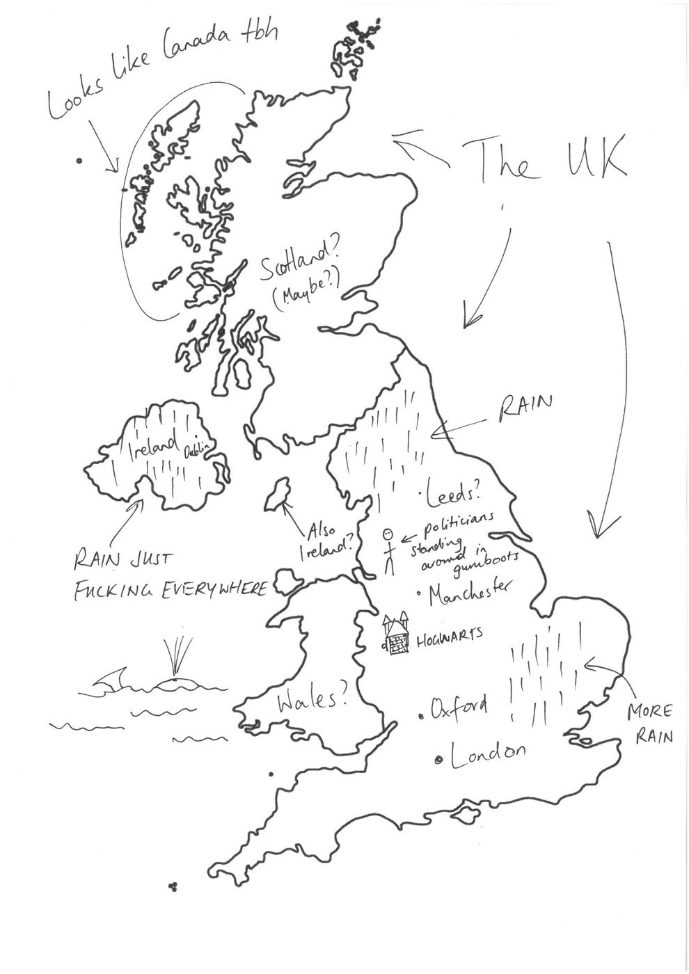 This is a graphic of Comprehensive Label the British Isles