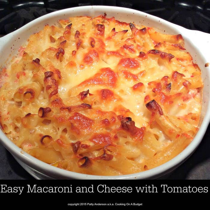 Taking the easy weeknight macaroni and cheese up a notch. The tomatoes are marvelous in the dish.