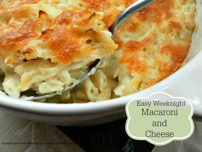 This easy, delicious macaroni and cheese is ready in about an hour.