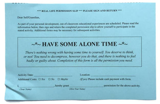 8 Permission Slips For Real Life
