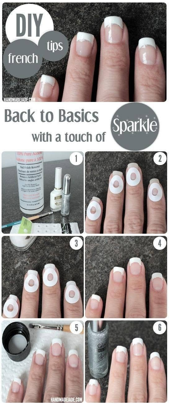 19 charts that totally explain how to give yourself a manicure or go for hole reinforcement labels for the french look solutioingenieria Images