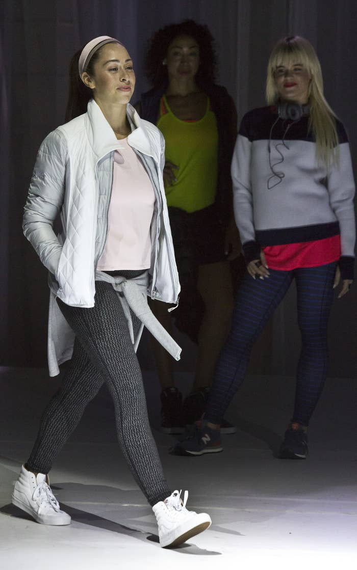 Athleta's Spring 2015 collection, modeled during New York Fashion Week.
