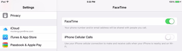 "If you're annoyed that your iPad keeps ringing when you get a call on your iPhone, go to Settings > FaceTime > turn ""iPhone Cellular Calls"" to off."