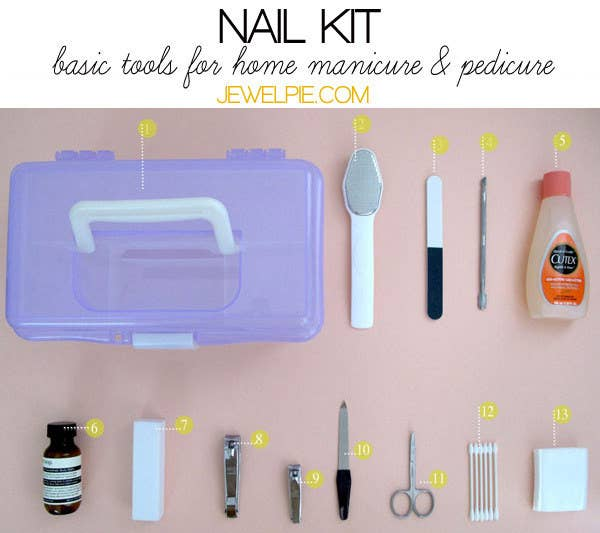 Your Tool Kit Should Include A Metal Foot File Buffer Cuticle Pusher