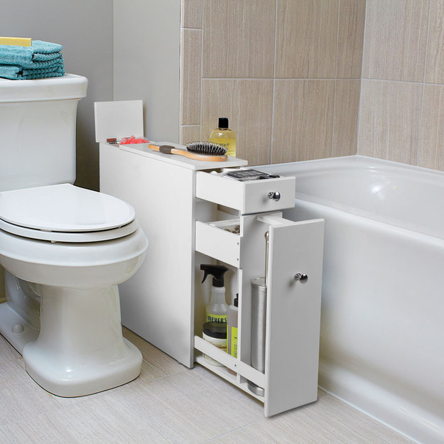 20. This Extra Cabinet That Fits Awkwardly Into That Awkward Space Between  Your Toilet And The Tub.