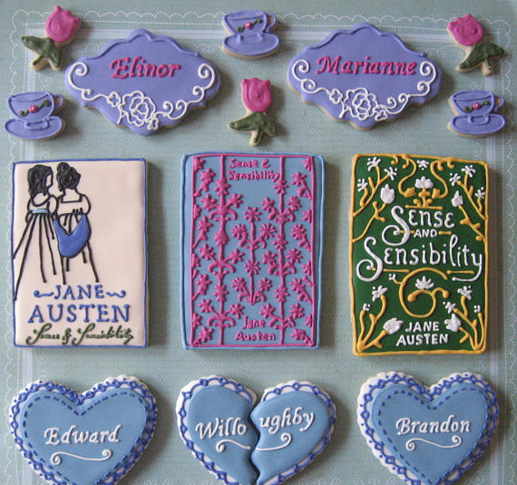 Sense & Sensibility-themed cookies