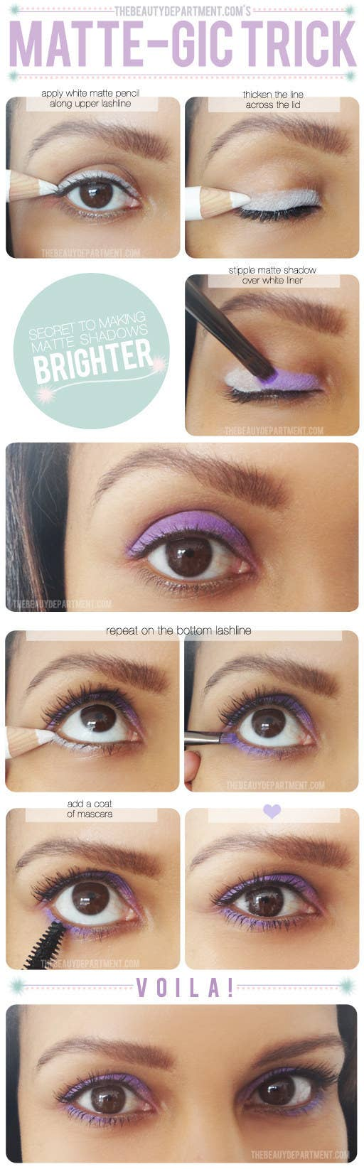 If You're Looking To Make Colors Seriously ~stand Out~, Apply White Liner  Before You Apply Eyeshadow