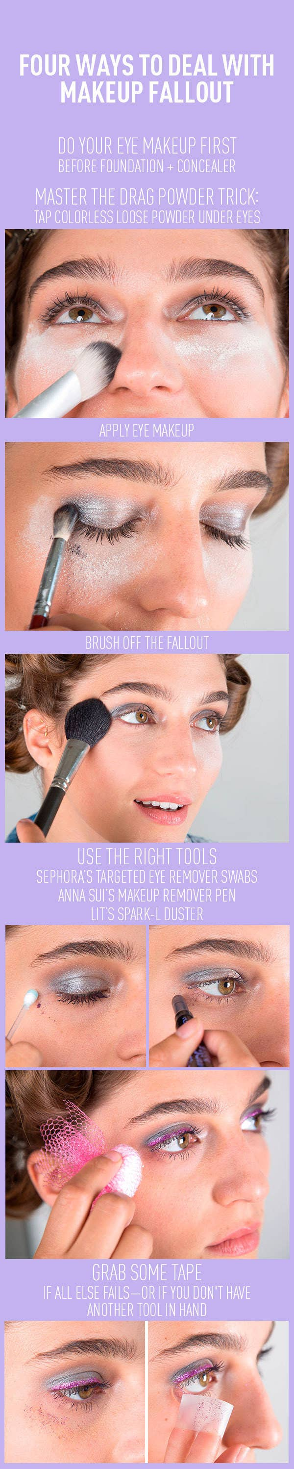 Makeup Fallout Is Inevitable (especially With Darker Shadows), But There  Are Definitely Ways To Fix It