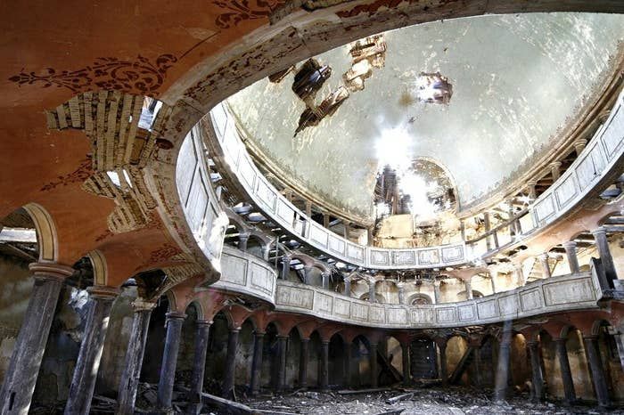This church, originally built in 1796, was deserted at the end of World War II.