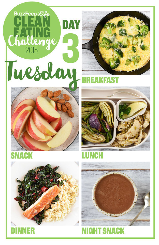 healthy diet foods for the week
